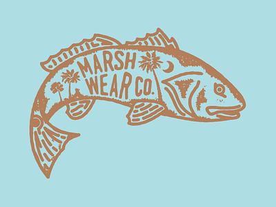 MarshWear Redfish marsh fly fishing fishing south carolina palm redfish