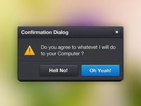 Confirmation Dialog