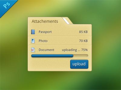 Upload attachements