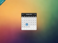 Kalendae (calendar) Metal Skin - JS/CSS