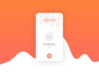 Kawafoody app: Home screen