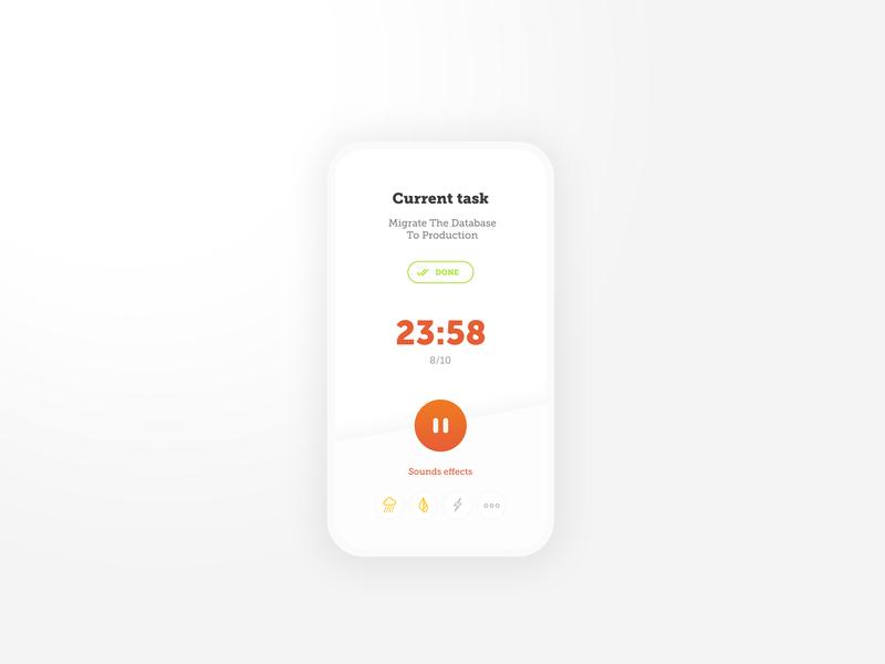 Productivity timer timer design simple productivity mobile pomodoro app