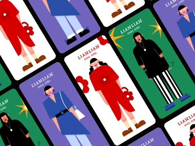 Fashion girls 人物 illustration