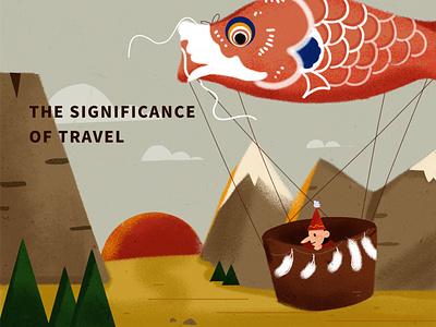 旅行的意义 版式 风景 design illustration