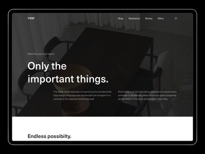 Vipp - About Modularity [003] ui ux sketch figma typography website minimalism minimal layout exploration layout exploration art direction interior interior design architecture