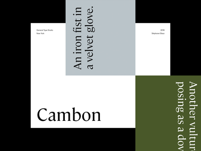 Cambon - Typeface editorial layout exploration art direction experimental layout app minimal minimalism animated typography animation sketch ux ui