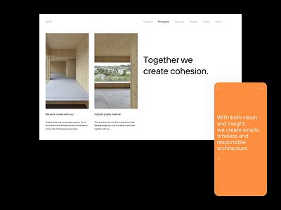 GLSA — Principles architects architect architecture website layout layout exploration art direction exploration brutalism minimalism minimal animated animation graphic design figma sketch ux ui