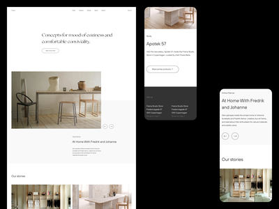 Frama — Home exploration layout minimalist interior design interior scandinavia layout exploration art direction brutalism website minimal minimalism typography animation sketch ux ui