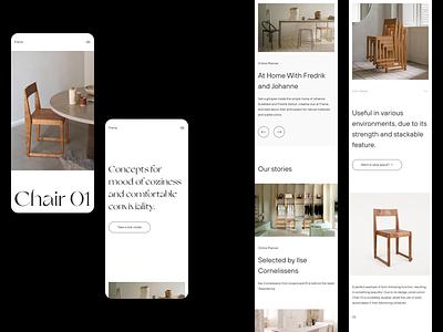 Frama — Mobile Screens architecture website interior scandinavia art direction layout exploration explorationm layout minimalism minimalist minimal figma animation sketch ux ui