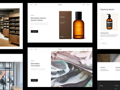 Aesop® — Website e-commerce ecommerce aesop cosmetics website type brutalism art direction layout exploration layout minimalistic minimal minimalism typography ux ui
