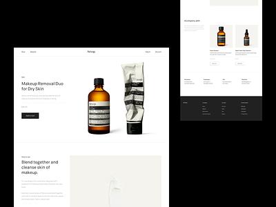 Aesop® — Product cosmetics aesop art direction layout exploration brutalism layout e-commerce ecommerce minimal minimalism animated type typography figma sketch ux ui