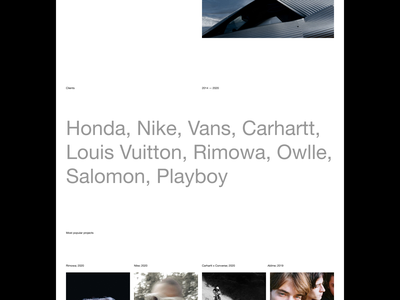 Thibaut Grevet — Website photography photographer portfolio website portfolio brutalist brutalism type typography art direction layout layout exploration minimal minimalist minimalism website editorial