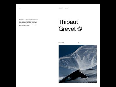 Thibaut Grevet — Website photography photographer portfolio website portfolio brutalist brutalism type typography art direction layout layout exploration minimal minimalist minimalism website editorial