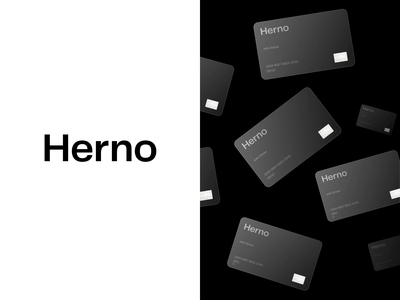 Herno® — Branding brutalist brutalism layout exploration art direction branding principle minimalist minimalism minimal animation glass card credit card layout type typography figma sketch ux ui