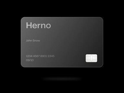 Herno® — Card ui ux sketch animation typography animated minimalism minimal minimalist type card credit card fintech financial brutalism brutalist art direction graphic design branding brand