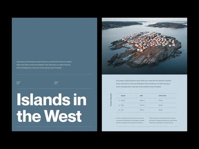 Islands — Layout Exploration figma editorial minimalist graphic design type layout exploration exploration art direction layout website minimal animated minimalism typography animation sketch ux ui