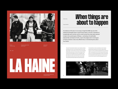 La Haine — Layout Exploration figma type exploration type minimalist layout exploration exploration art direction layout website minimal animated minimalism typography animation sketch ux ui
