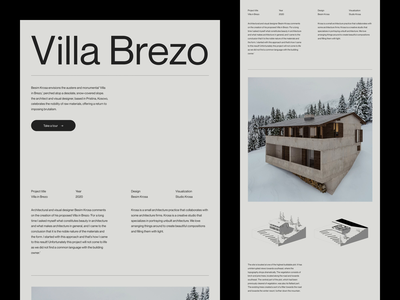 Villa Brezo — Slideshow landing page type minimalist architecture art direction layout website minimal animated minimalism typography animation sketch ux ui