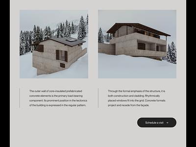 Villa Brezo — Scrolling layout exploration art direction editorial type modernism brutalism minimalist aftereffects principle layout website minimal animated minimalism typography animation sketch ux ui
