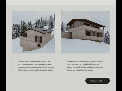 Villa Brezo — Scrolling layout exploration art direction editorial type modernism brutalism minimalist aftereffects principle layout website minimal animated minimalism typography animation sketch ux ui