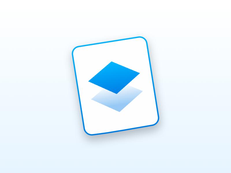 dropbox paper mac app icon by luka dribbble dribbble