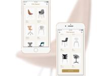 Fritz Hansen — iOS app concept #2