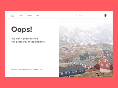 404 Page — UI Weekly Challenges-Season 02 / W [2/10] ux ui missing page missing error weeklyui airbnb 404 page 404