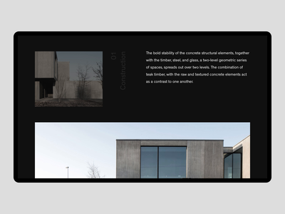 Tribu Offices [Website — 003] desktop design layout design architect ui ux ux ui sketch animation type typography website white minimalist minimalism minimal black brutalism architecture web layout
