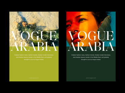 Vogue Arabia - Editorial & Art Direction Concept fashion website ux ui art direction whitespace art type typography minimal layout exploration layout design layout poster photography editorial design editorial artdirection