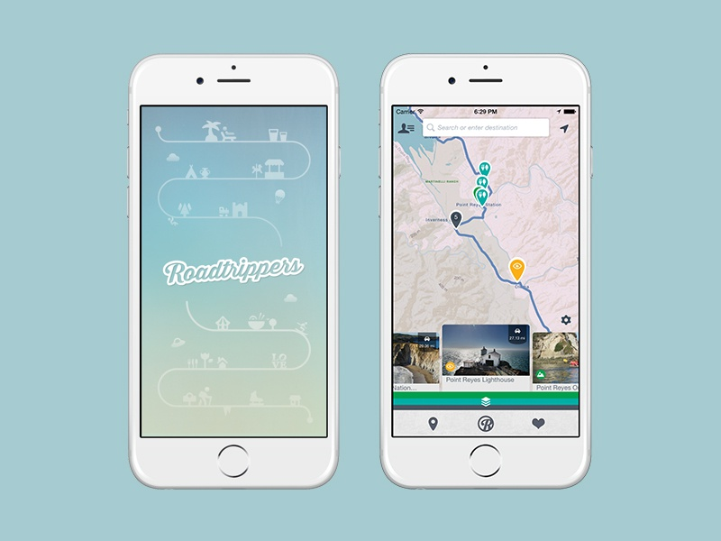 App ios app road trips travel route map