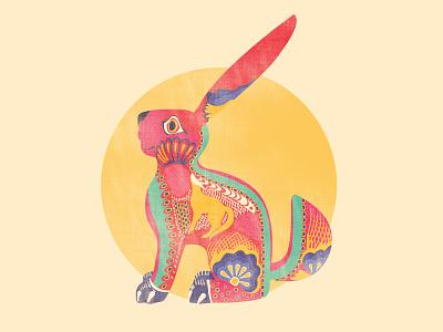 Alebrije Rabbit illustration conejo alebrije oaxaca latino mexico