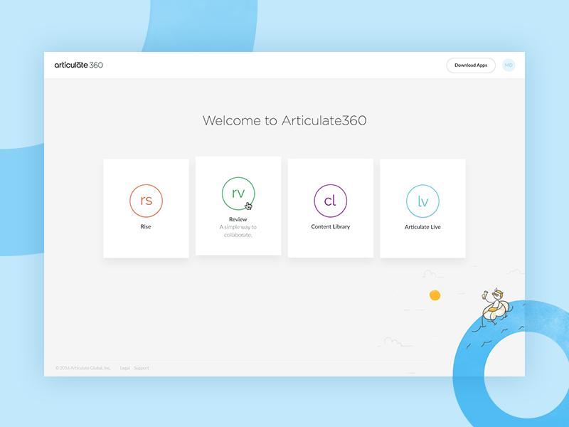 Articulate 360: Dashboard