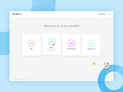 Articulate 360: Dashboard