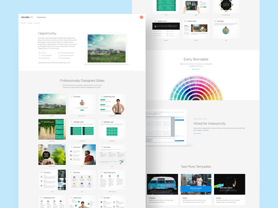 Articulate content library ux ui product layout e-learning education presentation template design course