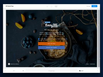 Wisely Splash Page Editor web builder layers splash platform editor restaurant ux ui