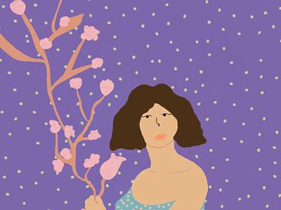 🌸 Girl with flowers 🌺 ilustracion ilustración diseño diseñografico photoshop illustration design