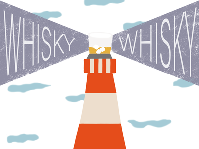 🥃 Lighthouse & Whiskey 🌊 whiskys whisky luz oceano ocean sea mar lighthouse faro ui logo illustration flower flowers diseño gráfico diseñografico diseño design ilustración