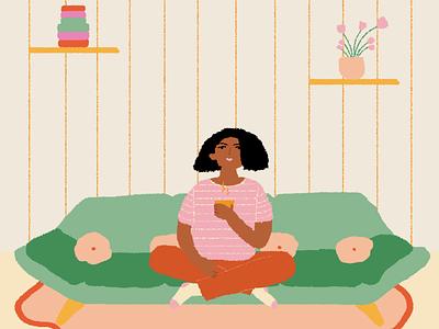 🍵 Coffe or Tea ☕ illustration flowers flower diseño gráfico diseñografico diseño design ilustración