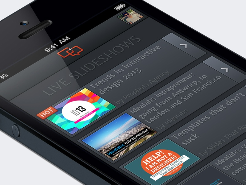Slide.li home slide.li iphone app second screen presentation slides presentations