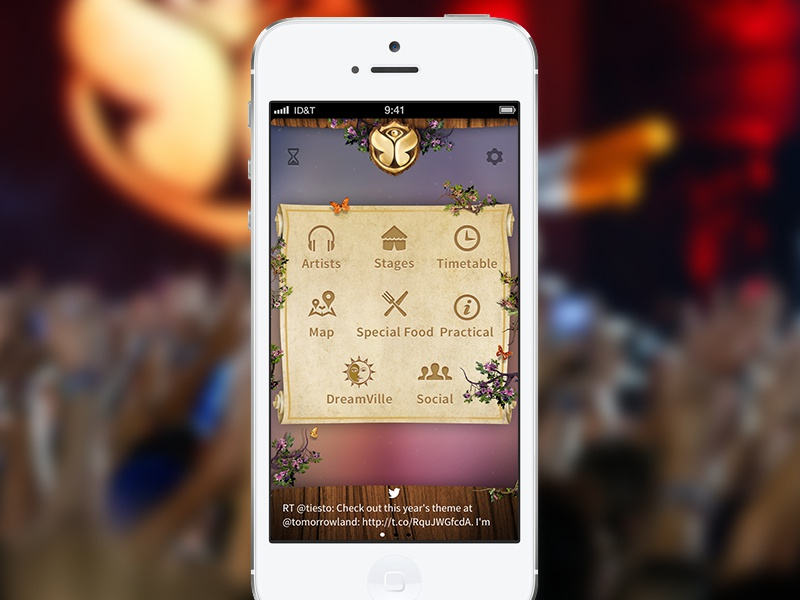 Tomorrowland 2013 official app! tomorrowland tml app iphone festival tomorrowworld idt icapps edm