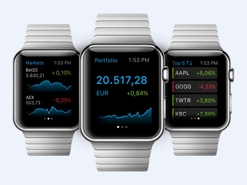Apple Watch trading app apple watch applewatch app iphone trading graph chart