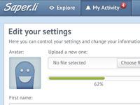 Saperli Edit your settings