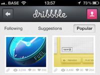 Dribbble app full