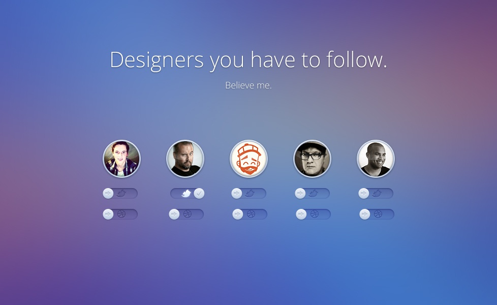 Designers you have to follow