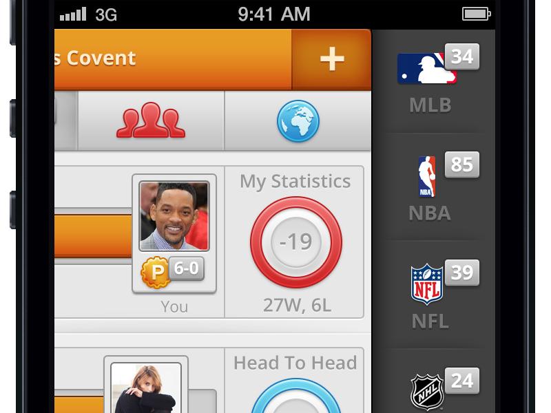 Sports sidebar sidebar iphone orange black grey