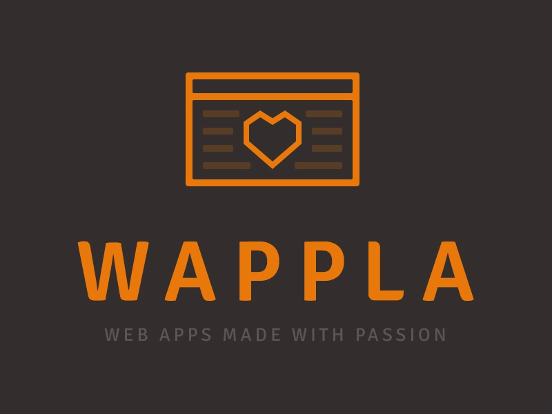 Wappla logo concept logo web apps made with passion
