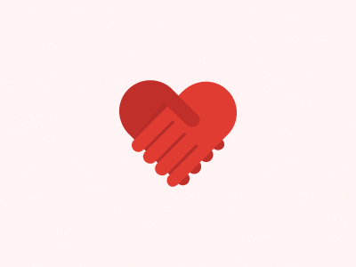 Logo (updated) heart hands logo