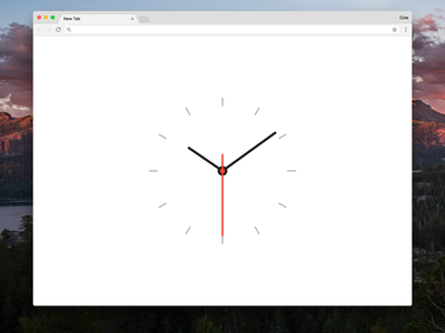 Analog New Tab extension chrome extension chrome minimal simple clock