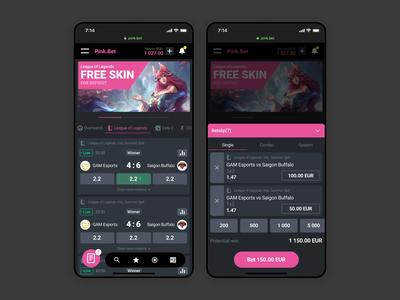 Mobile esport betting concept  🎮 sport live sport betting mobile animations mobile design mobile ui esport stavka bet trends gambling betting animation ui app