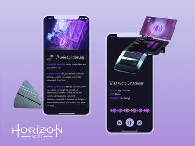 Horizon Zero Dawn - Horizon Wiki - Concept💫 design mobile ps5 ps4 sony playstation sony horizon horizon zero dawn ui app